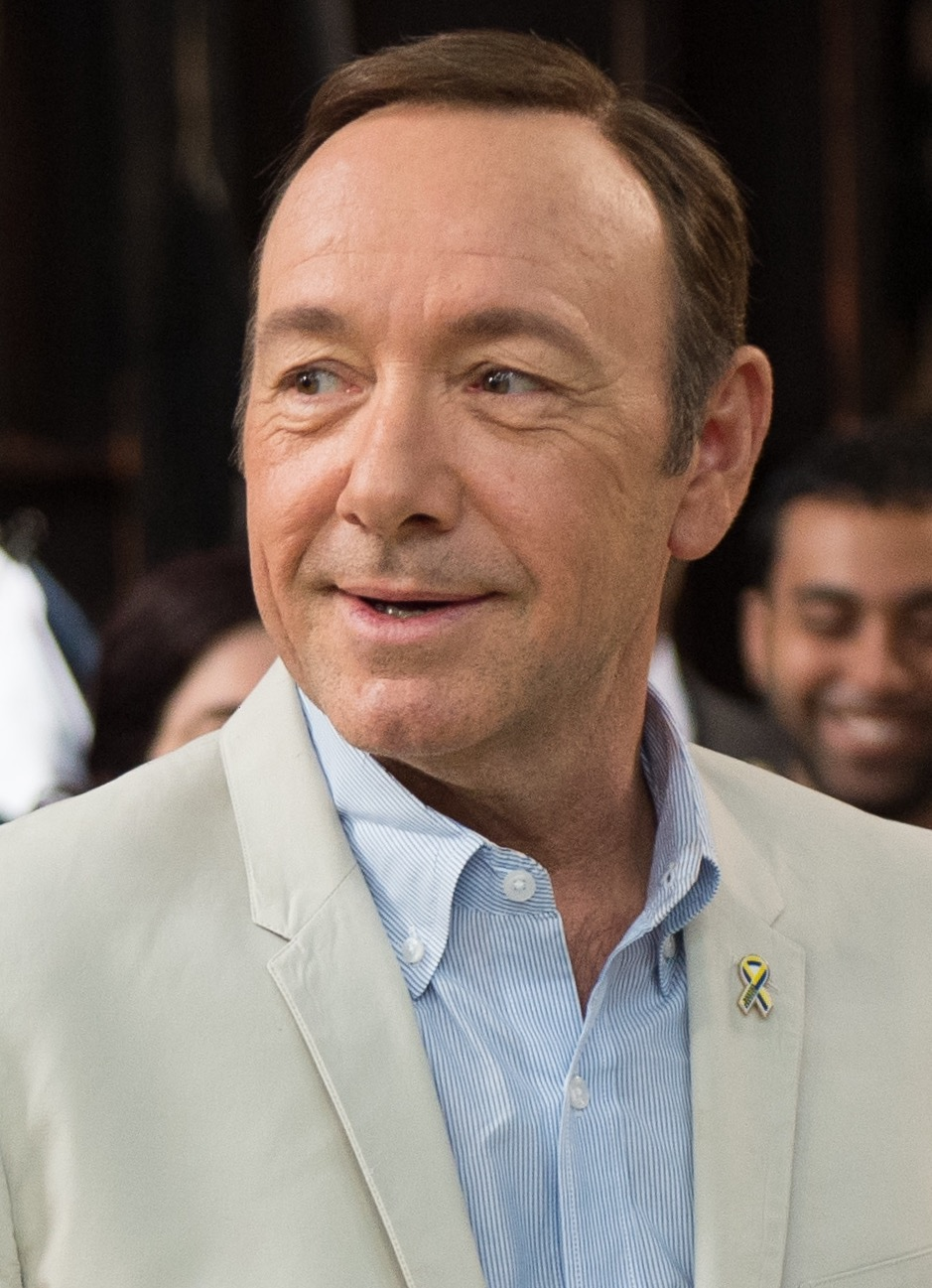 Actor Kevin Spacey on the set of