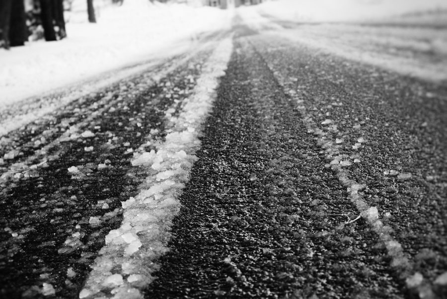 Icy Road.  Picture courtesy of Flickr