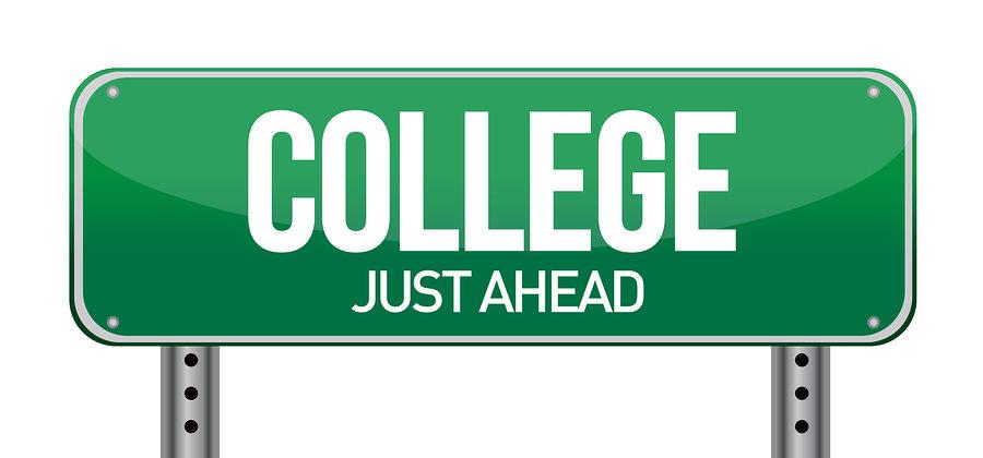 College Just Ahead Sign  Credits: sites.google.com