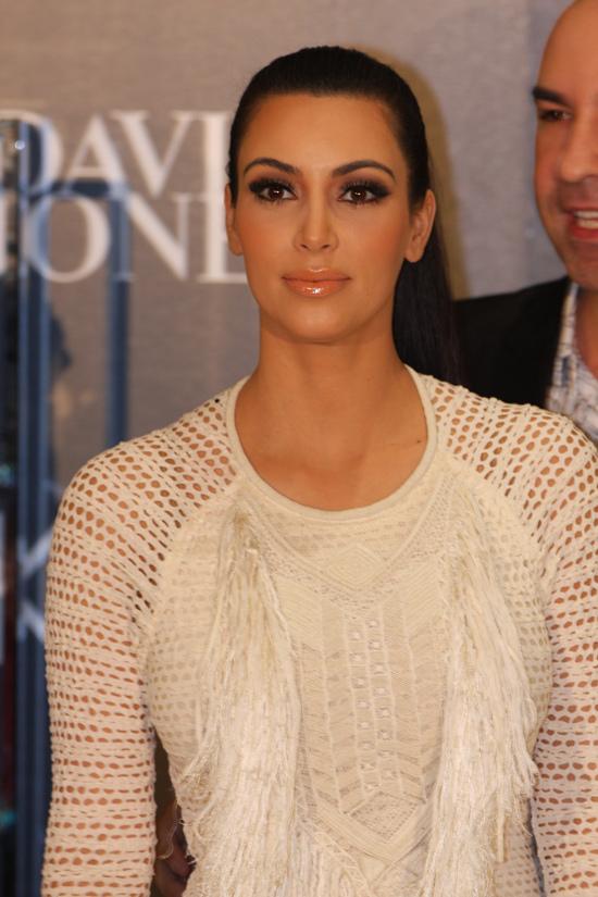 Kim Kardashian at an awards ceremony.