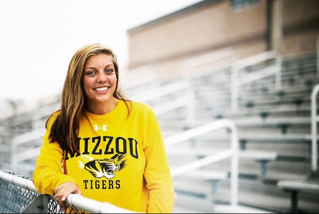 THS alumna Caroline Lemen now attends Mizzou where she is pursuing a degree in sports journalism.