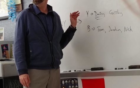 English teacher Jeremy Boesch has taught at THS for 14 years.