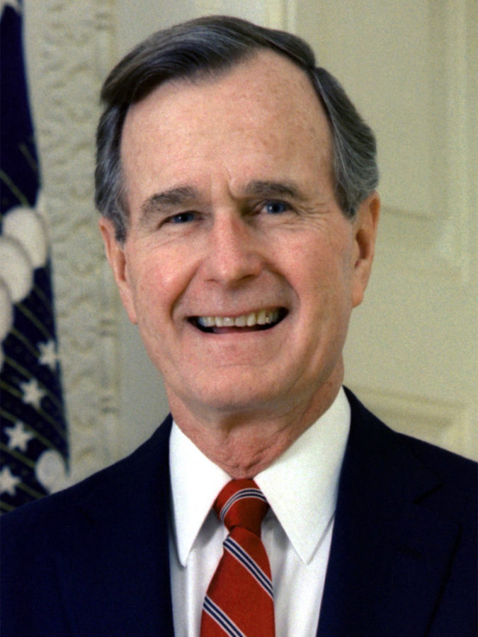 George+H.W+Bush+found+dead+by+his+former+president+son.+