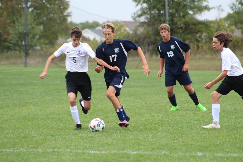 Freshmen Zac Dawkins and sophomore Aiden Alderson are part of  C-Team soccer.