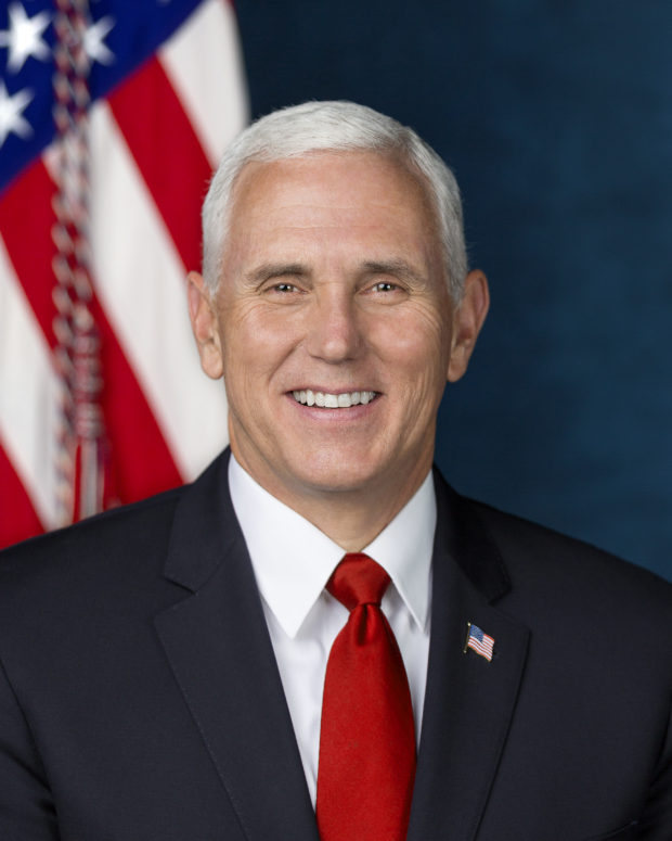 Vice President Micheal Pence poses for his official portrait at The White House, in Washington, D.C., on Tuesday, October 24, 2017.
