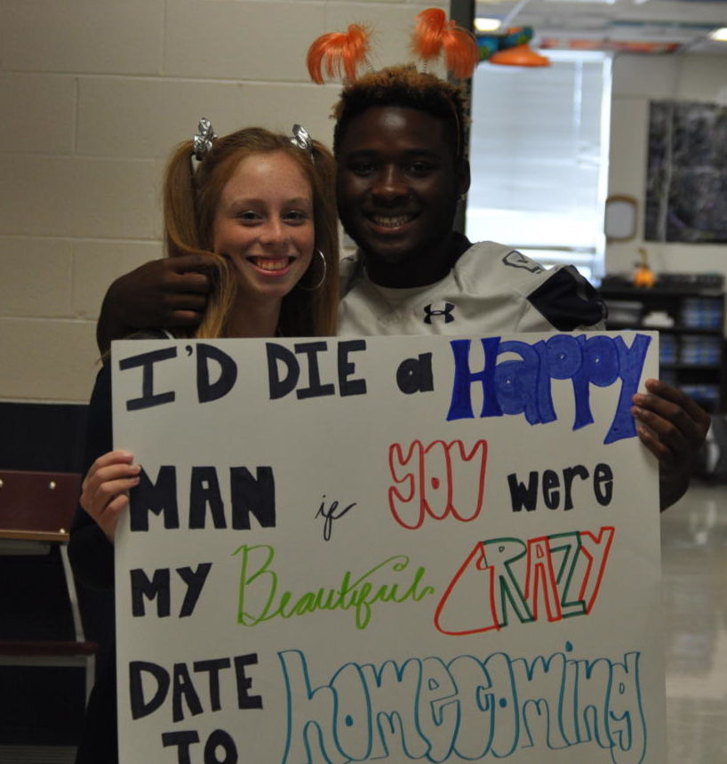 Higby and Richmond with the Proposal Poster.
