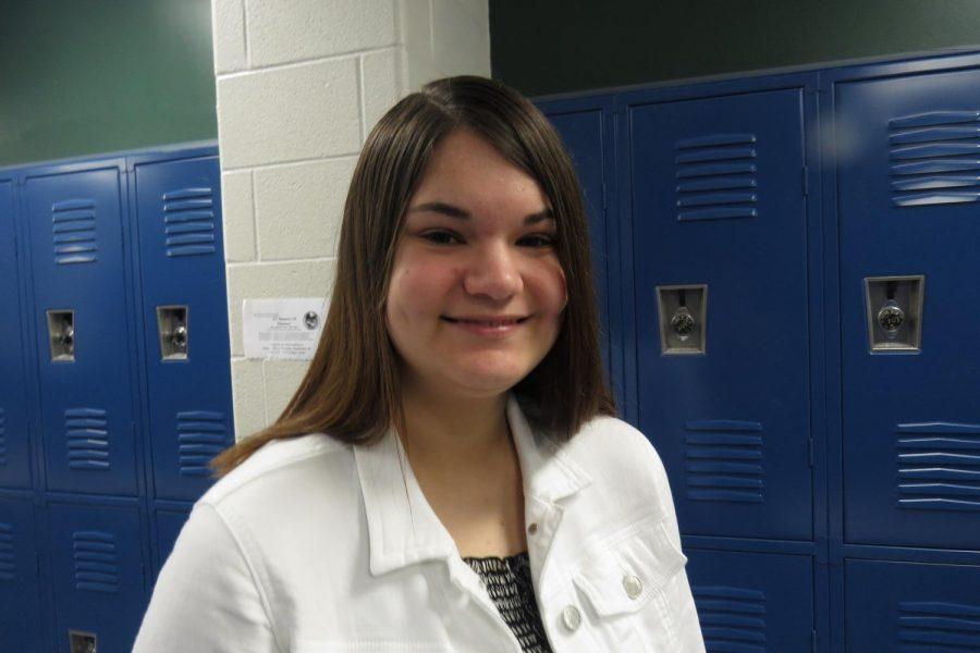 Sophomore Morgan Albino is a Vegan at Timberland.